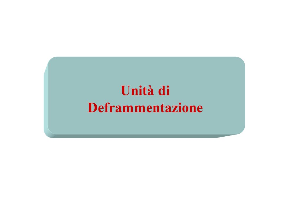 Unità di Deframmentazione