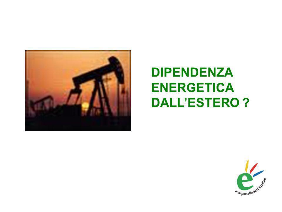 DIPENDENZA ENERGETICA DALLESTERO