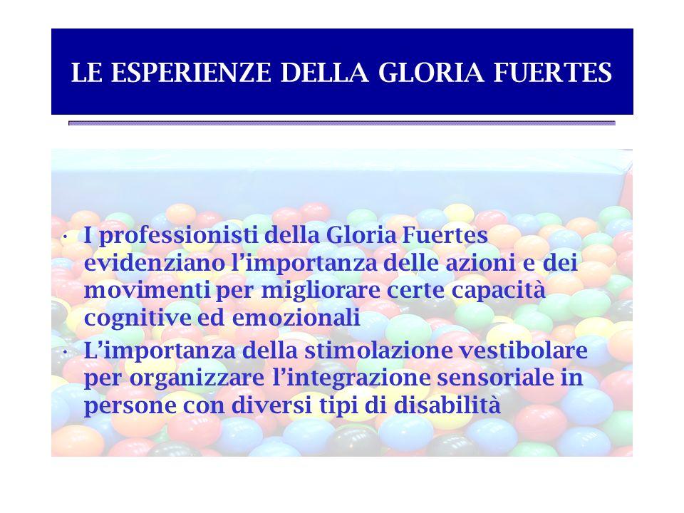 LE ESPERIENZE DELLA GLORIA FUERTES I professionisti della Gloria Fuertes evidenziano limportanza delle azioni e dei movimenti per migliorare certe cap