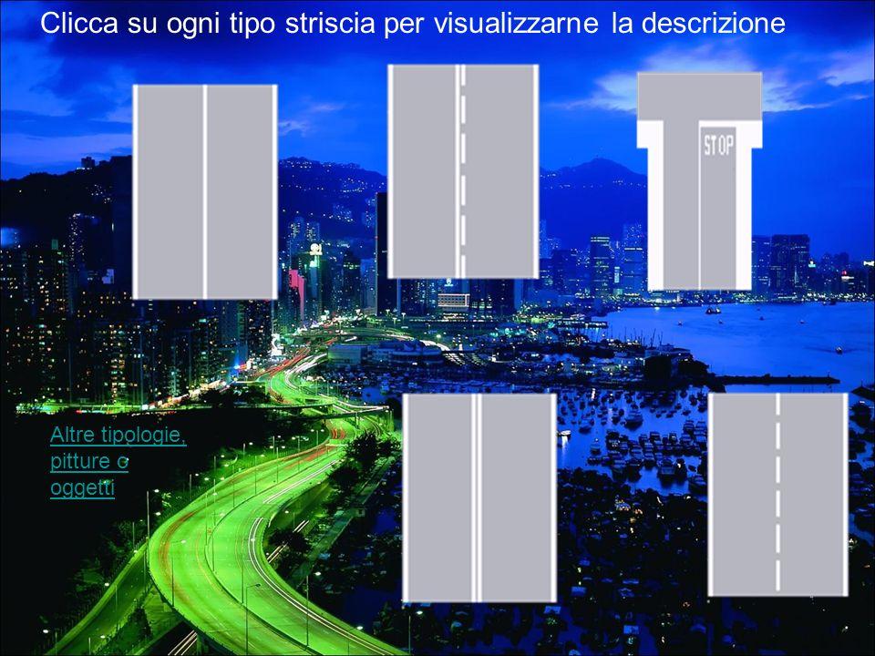 I segnali orizzontali sono tracciati in orizzontale sul fondo della strada (per esempio le strisce pedonali) e servono per regolare la circolazione, p
