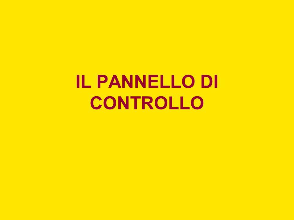 IL PANNELLO DI CONTROLLO
