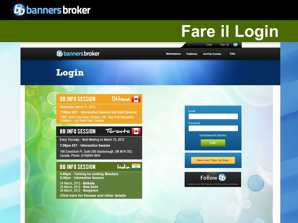 Copyright © BannersBroker. All rights reserved. 4 Fare il Login