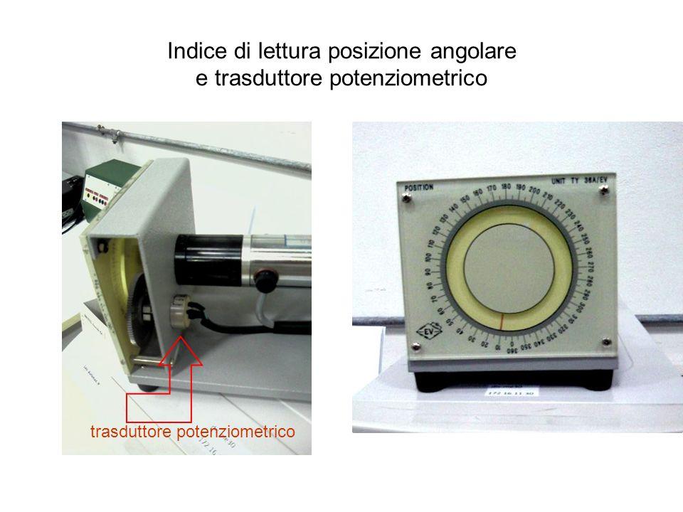 Indice di lettura posizione angolare e trasduttore potenziometrico trasduttore potenziometrico