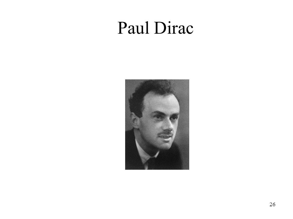 26 Paul Dirac
