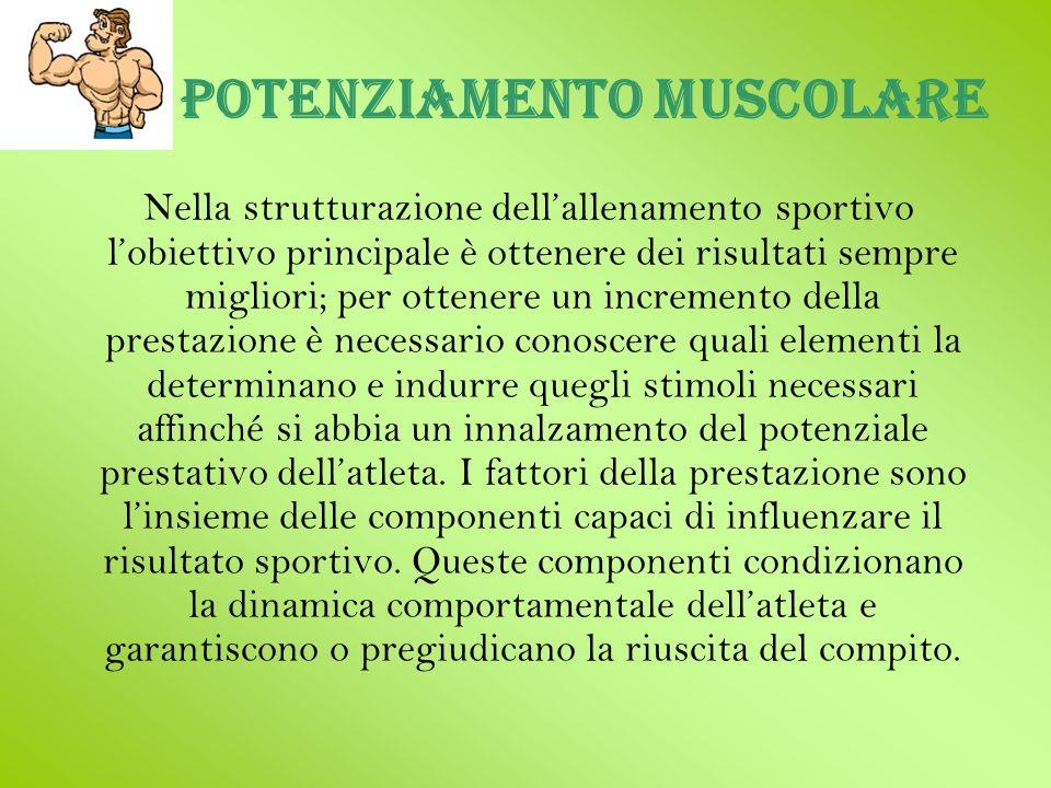 Potenziamento muscolare Nella strutturazione dellallenamento sportivo lobiettivo principale è ottenere dei risultati sempre migliori; per ottenere un