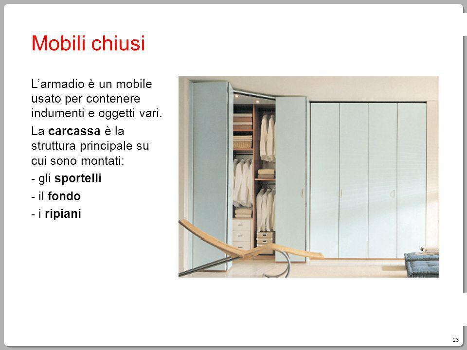 23 Giampietro Paci, Fare Tecnologia Mobili chiusi Larmadio è un mobile usato per contenere indumenti e oggetti vari.