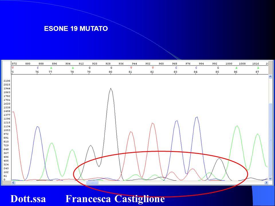 ESONE 19 MUTATO Dott.ssa Francesca Castiglione