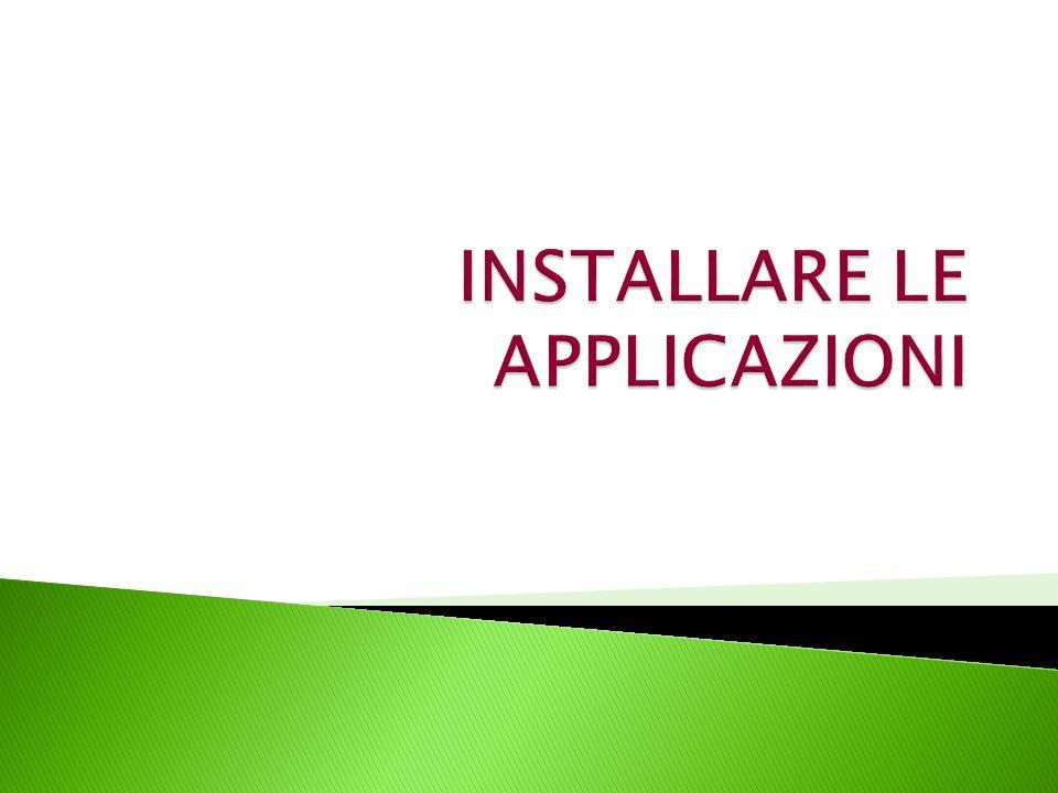 Il modo in cui un programma viene aggiunto dipende dalla posizione in cui risiedono i relativi file di installazione.