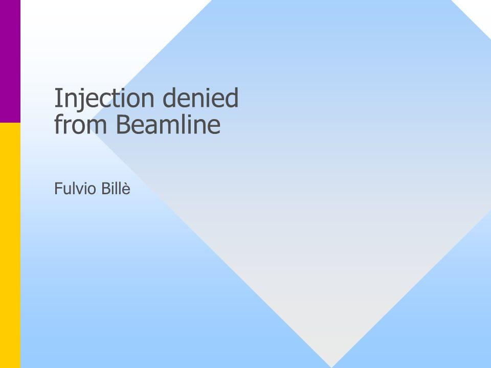 20/02/2003Beamline Control System - F.Billè2 Perché impedire liniezione.