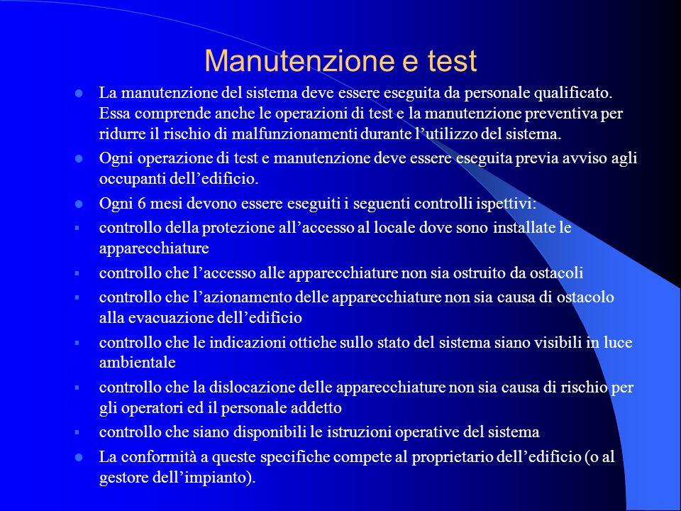 Utilizzo dellimpianto Laccesso e lutilizzo del sistema sono regolati dai punti precedenti in questa norma.