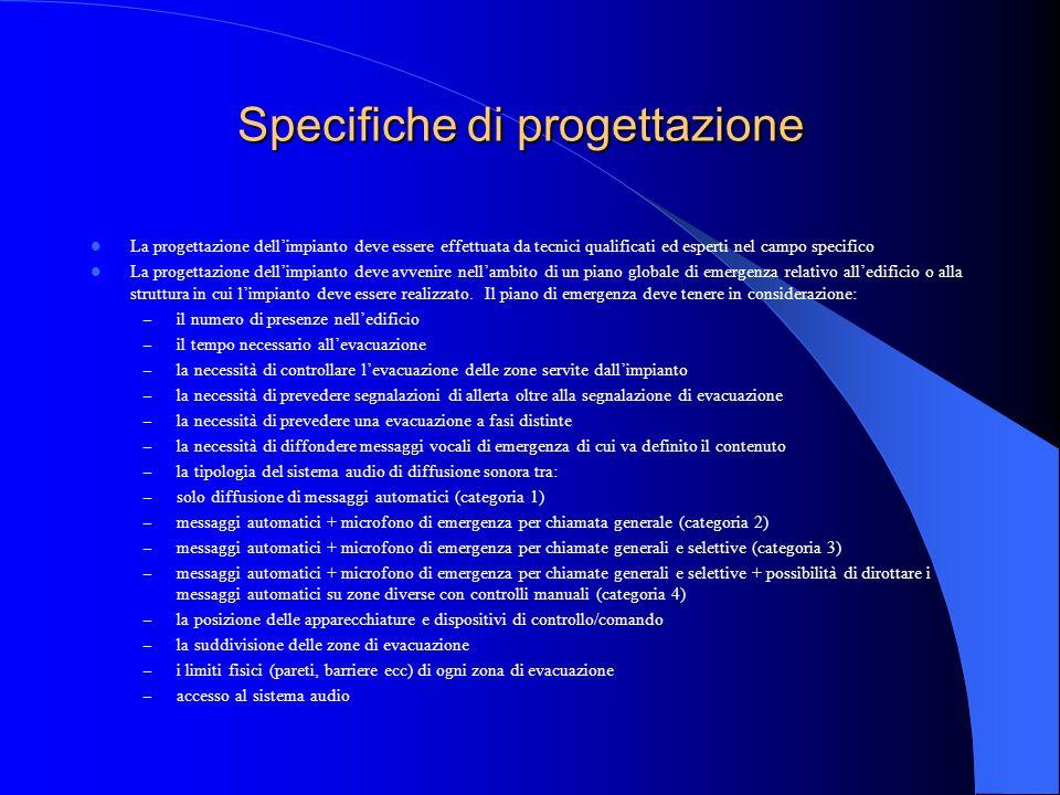 Oggetto della ISO 7240-19 Progettazione Requisiti di installazione Verifiche da effettuare al collaudo – prestazioni minime del sistema Gestione e man