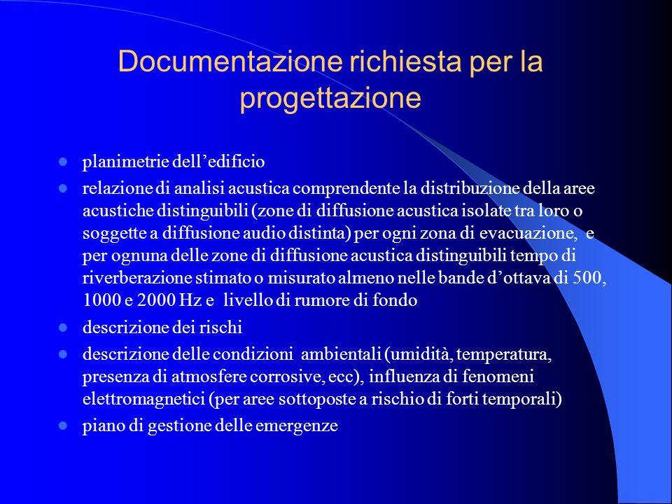 Specifiche di progettazione La progettazione dellimpianto deve essere effettuata da tecnici qualificati ed esperti nel campo specifico La progettazion