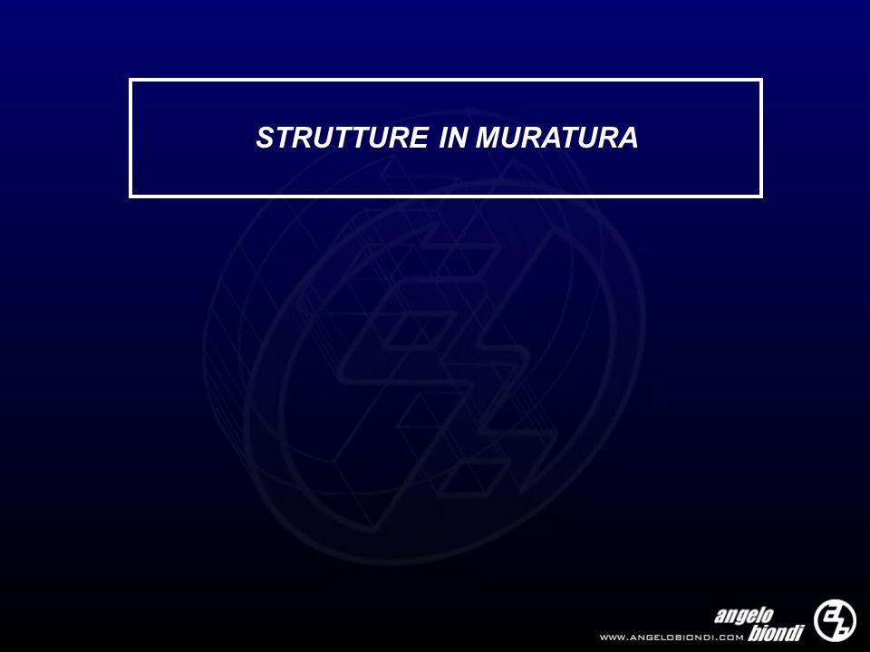 STRUTTURE IN MURATURA