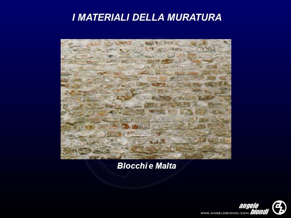 I MATERIALI DELLA MURATURA Blocchi e Malta