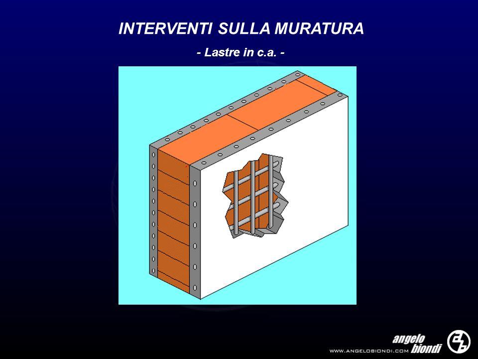 INTERVENTI SULLA MURATURA - Lastre in c.a. -
