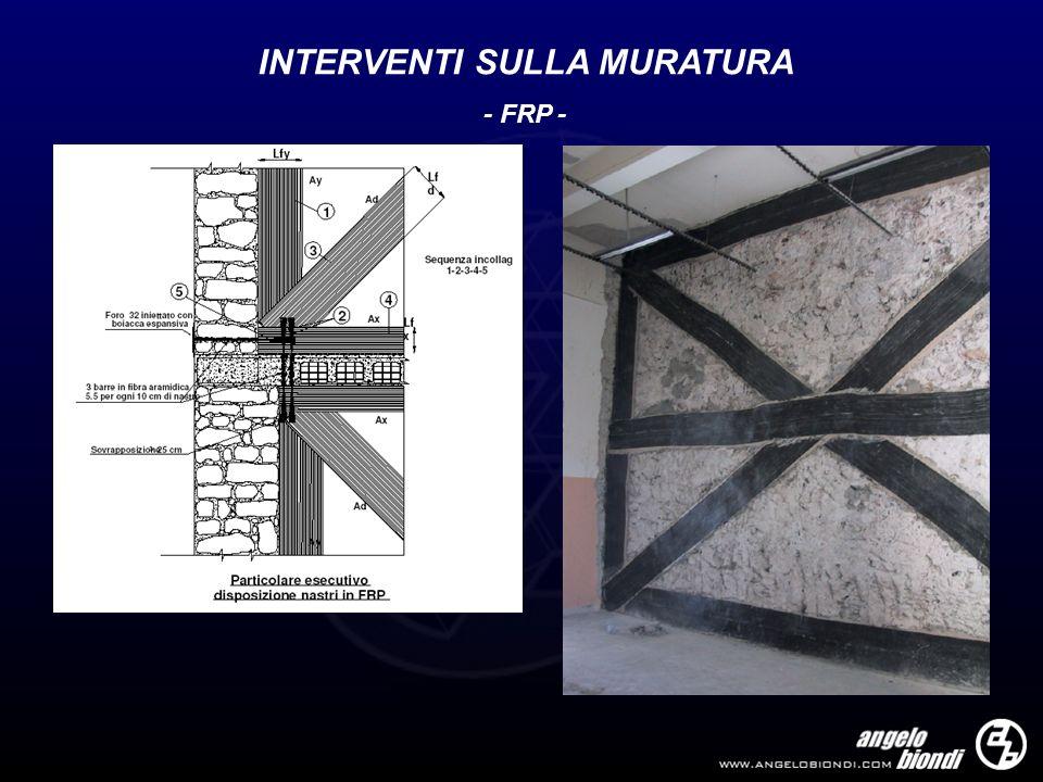 INTERVENTI SULLA MURATURA - FRP -