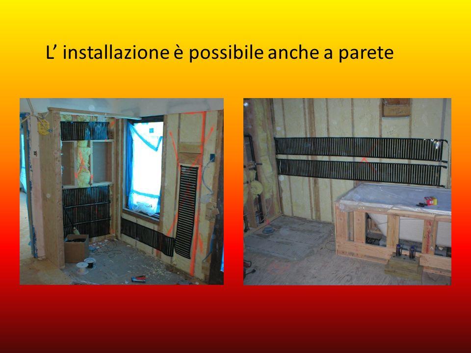 L installazione è possibile anche a parete