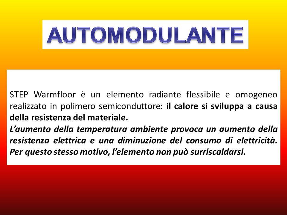 STEP Warmfloor è un elemento radiante flessibile e omogeneo realizzato in polimero semiconduttore: il calore si sviluppa a causa della resistenza del
