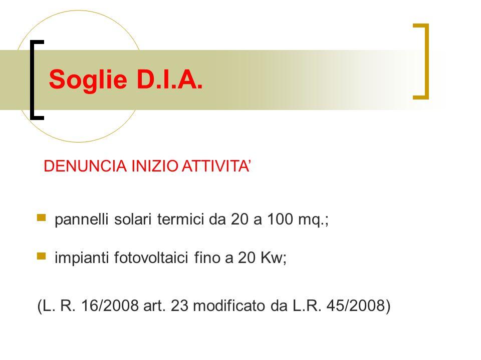 Soglie D.I.A.