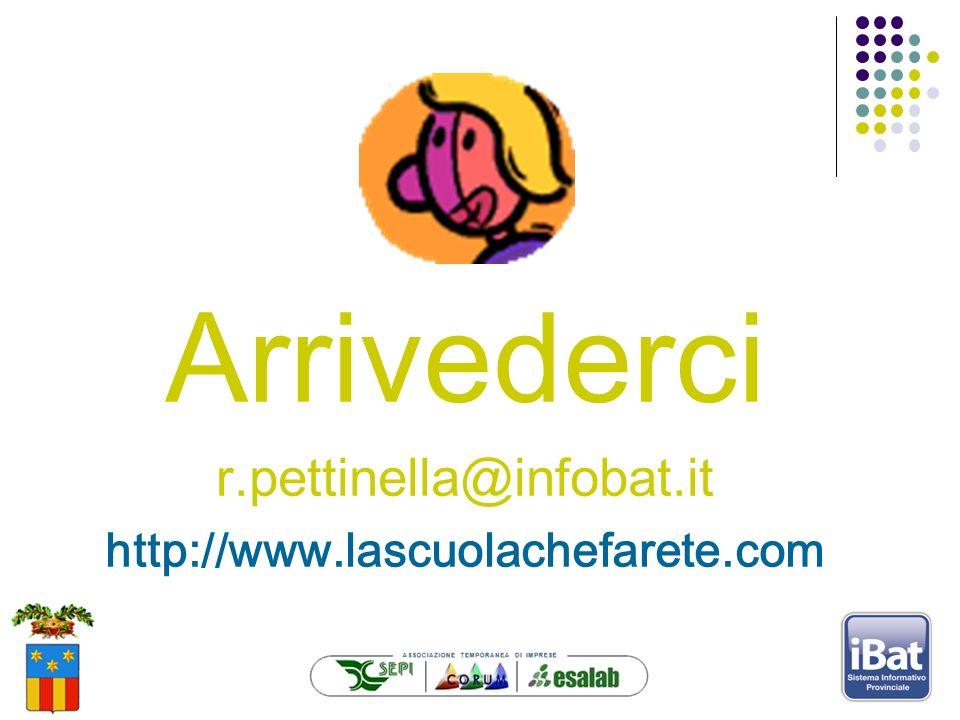 Arrivederci r.pettinella@infobat.it http://www.lascuolachefarete.com