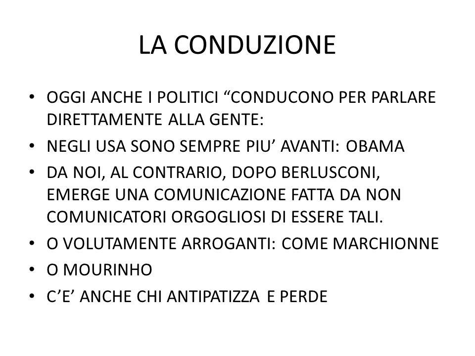 LA CONDUZIONE IN TELEVISIONE LE NEWS SONO SEMPRE (UN PO) SHOW.