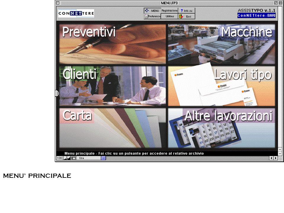 ESEMPIO #2 – STAMPA RIVISTA – PREVENTIVI - immissione In questo caso sono visualizzati anche i dati relativi al formato dellinterno.