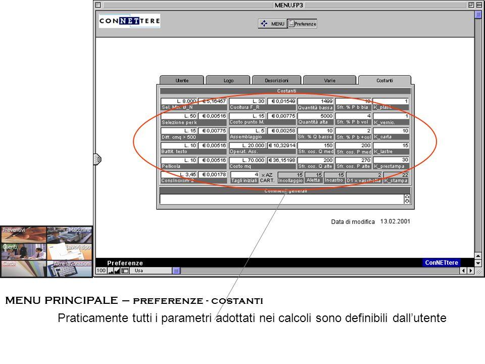 ESEMPIO #1 – CARTA INTESTATA - PREVENTIVI - macchine /costi aggiuntivi In questa sezione vengono precisate le altre macchine, oltre quella/e di stampa, coinvolte nella realizzazione del lavoro.