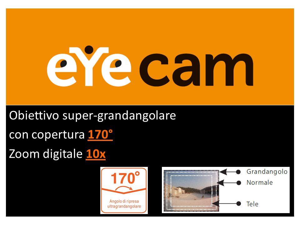 Obiettivo super-grandangolare 170° con copertura 170° 10x Zoom digitale 10x