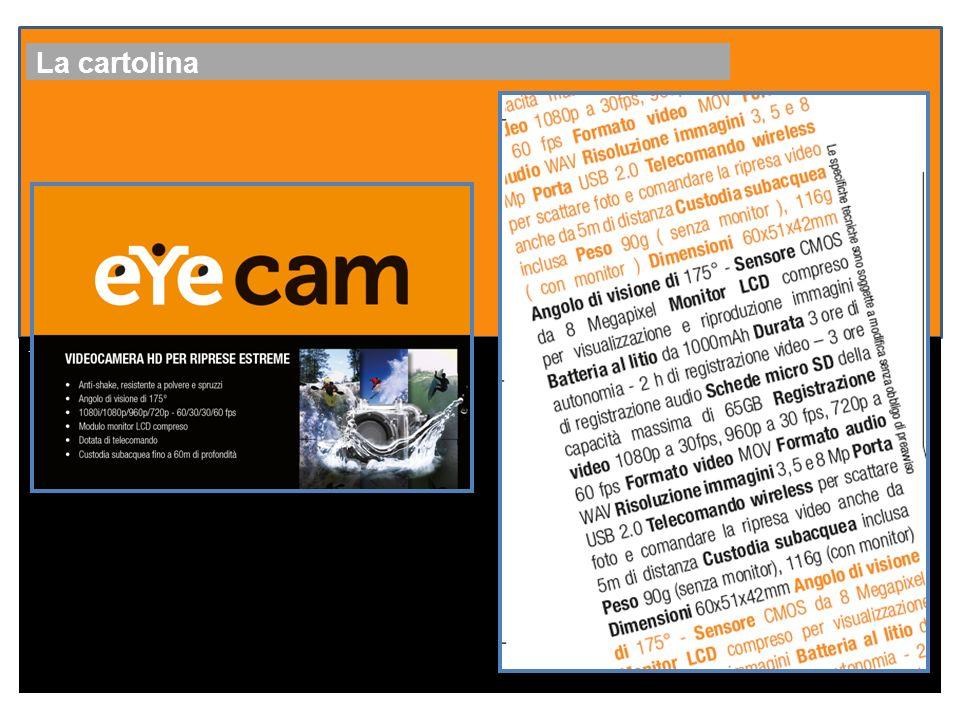 Il Canale YouTube eYecam channel su cui è possibile postare i video realizzati con la eYecam eYecam-bike eYecam-DRIVE eYecam-Fomula1 eYecam-Snowboard i filmati sul web