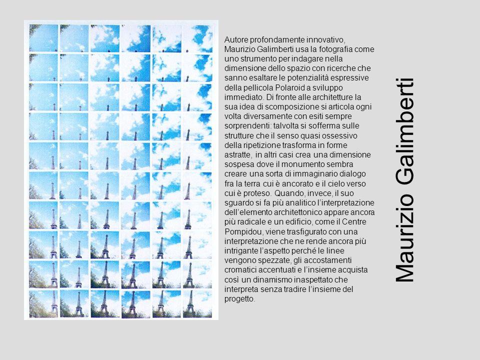 Autore profondamente innovativo, Maurizio Galimberti usa la fotografia come uno strumento per indagare nella dimensione dello spazio con ricerche che sanno esaltare le potenzialità espressive della pellicola Polaroid a sviluppo immediato.
