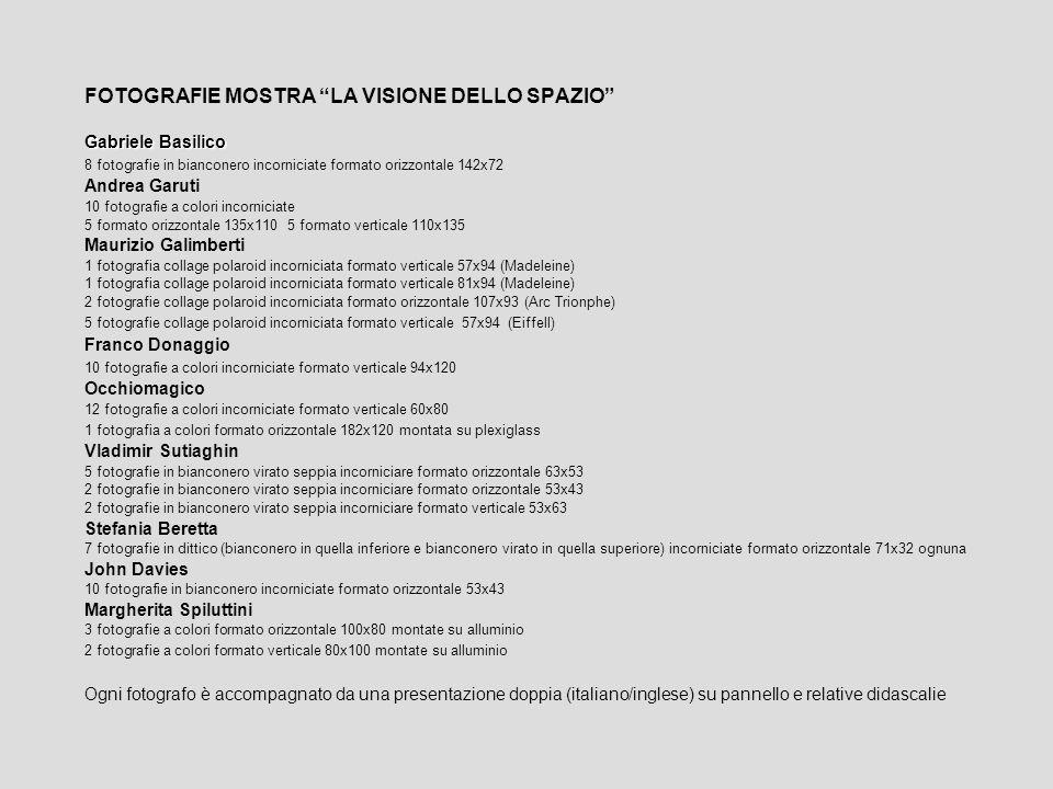 Dopo la mostra Aquiloni, i colori del vento del fotografo Franco Mammana, a Cremona, Palazzo Comunale dal 2 al 13 aprile, lOrdine Architetti, Pianificatori Paesaggisti e Conservatori di Cremona, con la sua Associazione, propongono a Crema una mostra di respiro internazionale che si offre di indagare il tema fotografia come architettura, passando attraverso gli sguardi accorti di nove formidabili professionisti dellimmagine, la cui abilità si svela nel cogliere della realtà il dettaglio che sfugge allocchio profano.