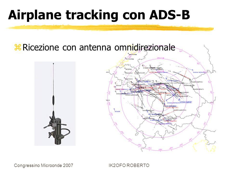 Congressino Microonde 2007IK2OFO ROBERTO Airplane tracking con ADS-B zRicezione con antenna omnidirezionale