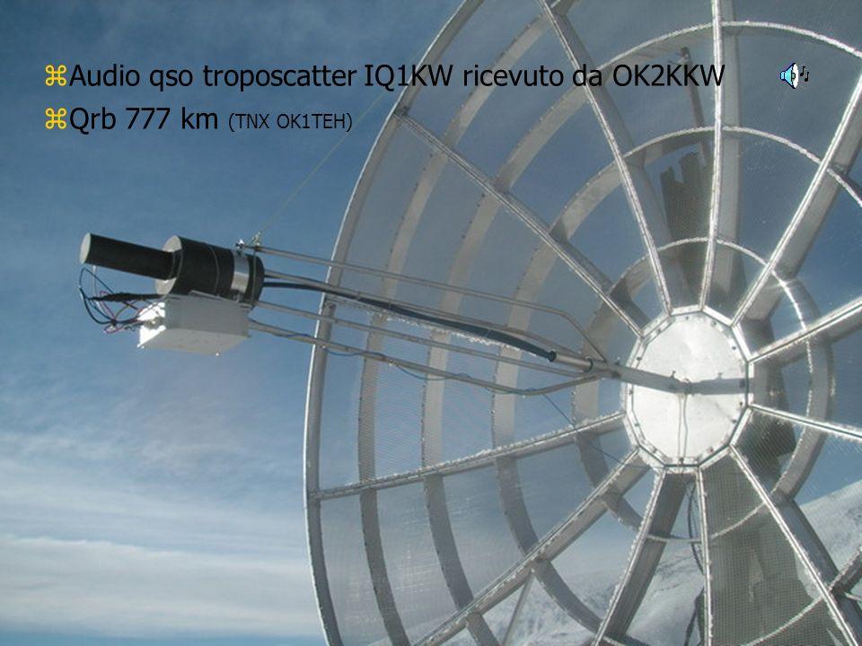 Congressino Microonde 2007IK2OFO ROBERTO zAudio qso troposcatter IQ1KW ricevuto da OK2KKW zQrb 777 km (TNX OK1TEH)