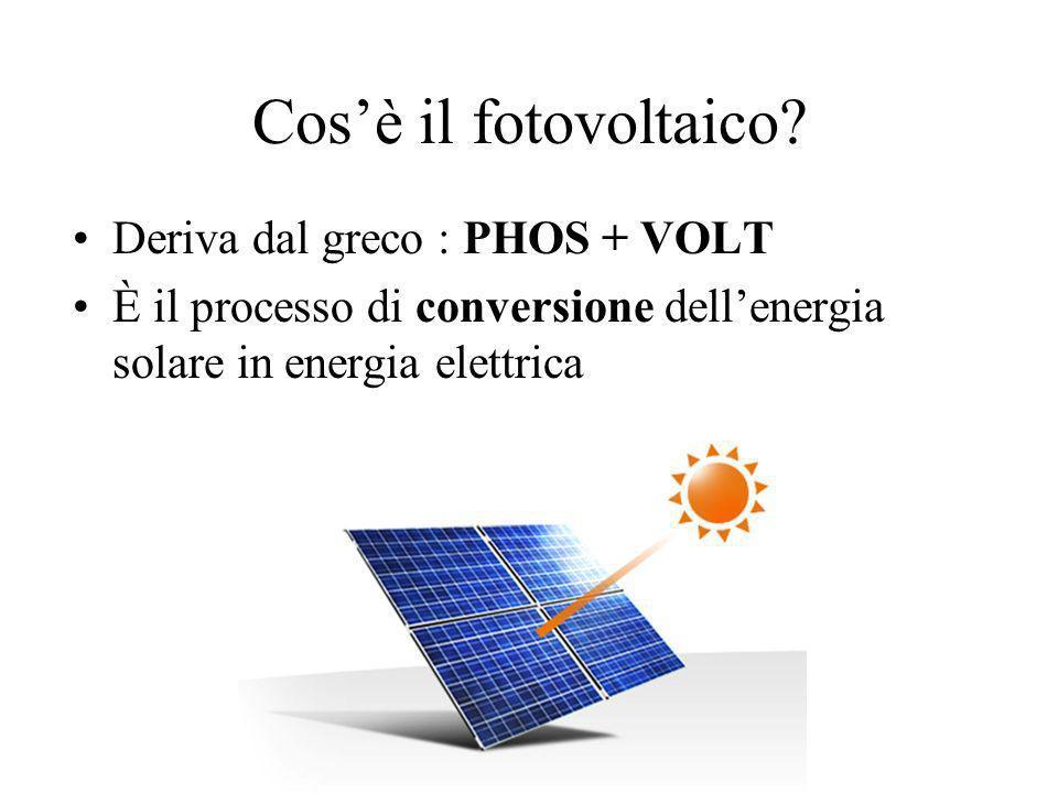Cenni alla storia del fotovoltaico 1839 Edmond Becquerel 1876 Smith, Adams e Day 1954 prime celle fotovoltaiche, con applicazione in ambito aerospaziale 1970 impiego della tecnologia fotovoltaica anche in campo civile