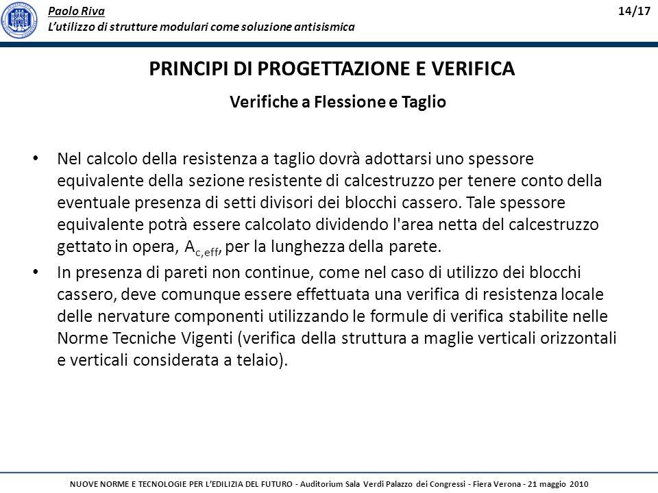 Paolo Riva Lutilizzo di strutture modulari come soluzione antisismica 14/17 NUOVE NORME E TECNOLOGIE PER LEDILIZIA DEL FUTURO - Auditorium Sala Verdi