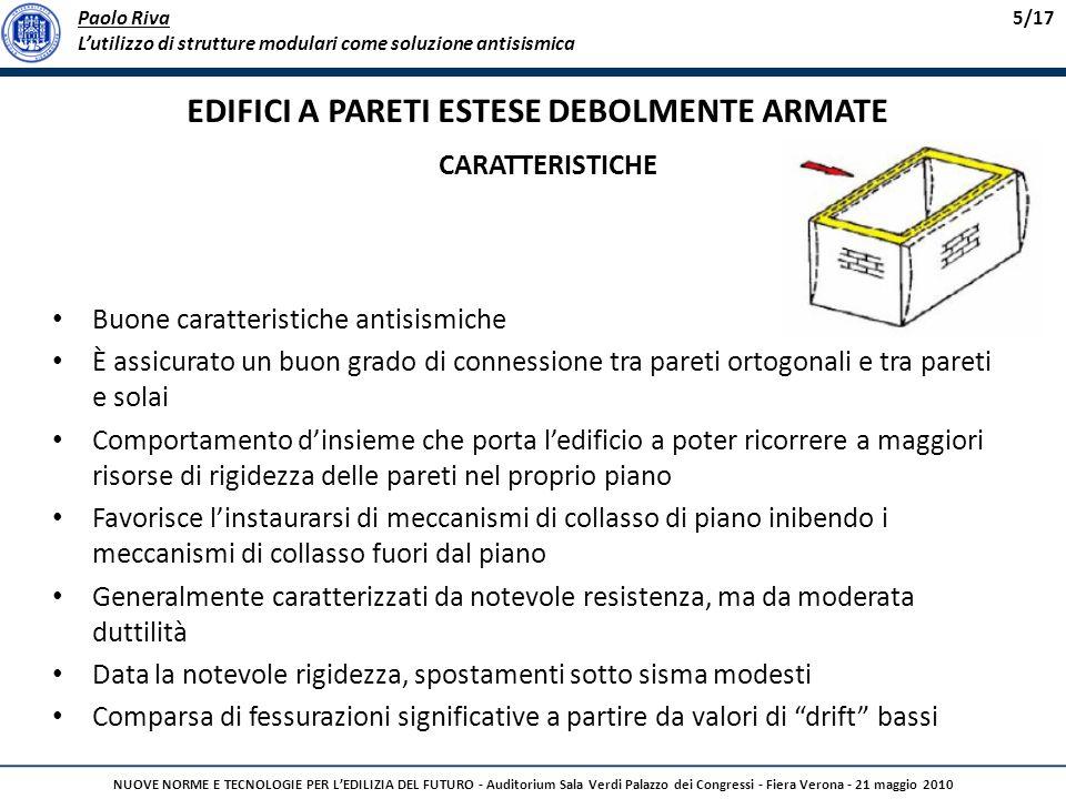 Paolo Riva Lutilizzo di strutture modulari come soluzione antisismica 5/17 NUOVE NORME E TECNOLOGIE PER LEDILIZIA DEL FUTURO - Auditorium Sala Verdi P