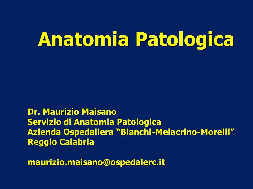 Anatomia Patologica Dr. Maurizio Maisano Servizio di Anatomia Patologica Azienda Ospedaliera Bianchi-Melacrino-Morelli Reggio Calabria maurizio.maisan