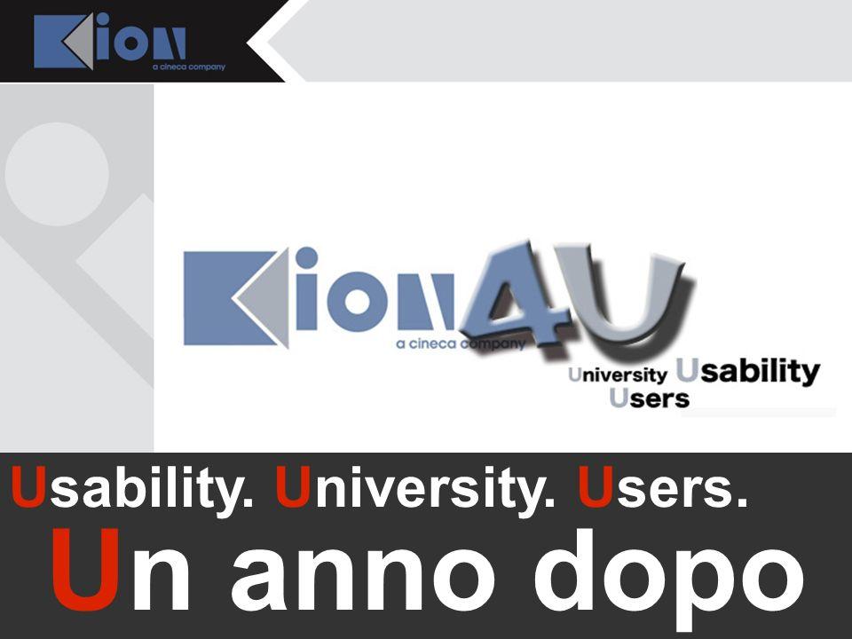 Bologna 21 Novembre 2007 Usability. University. Users. U Usability. University. Users. Un anno dopo