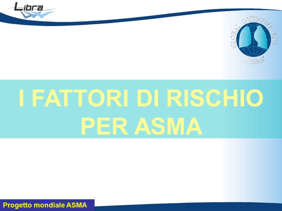 Progetto mondiale ASMA I FATTORI DI RISCHIO PER ASMA