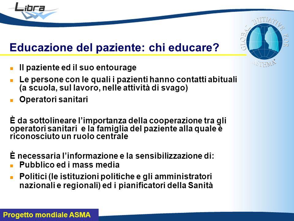 Progetto mondiale ASMA Educazione del paziente: chi educare.
