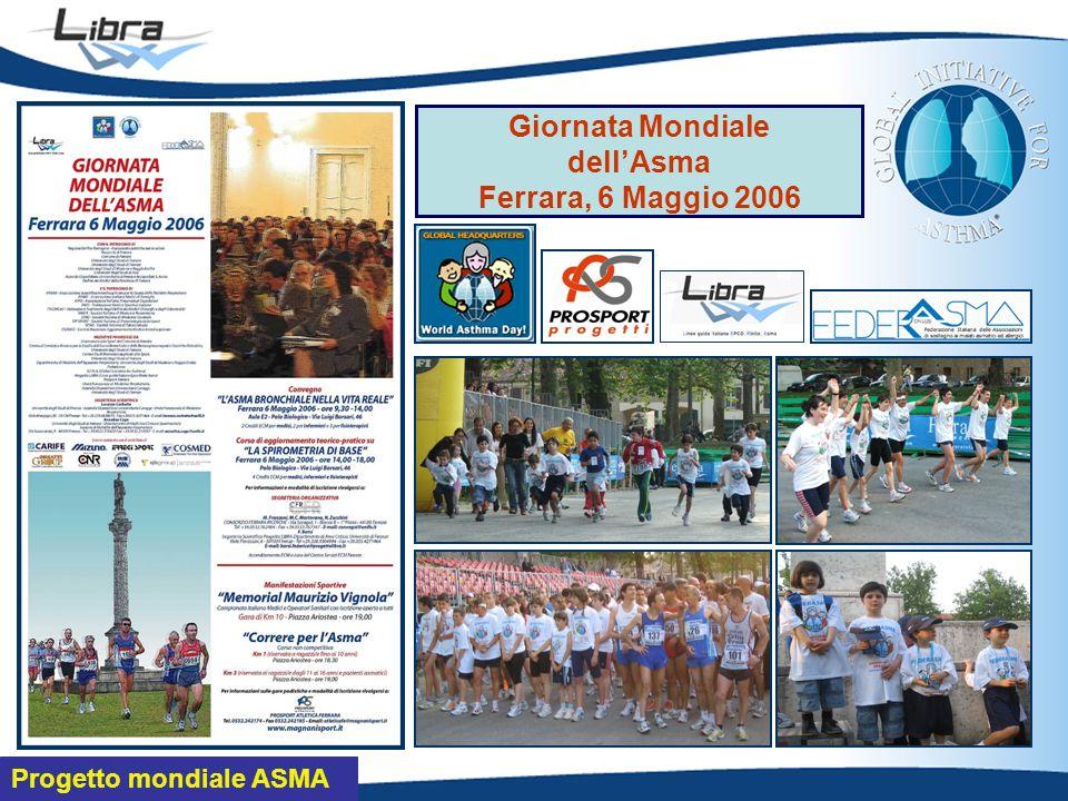 Progetto mondiale ASMA Giornata Mondiale dellAsma Ferrara, 6 Maggio 2006