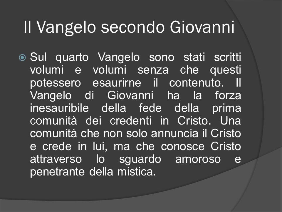 Il Vangelo secondo Giovanni Lautore di questo Vangelo, o potremmo più correttamente dire il redattore, si presenta come il credente che ha visto e ne dà testimonianza.