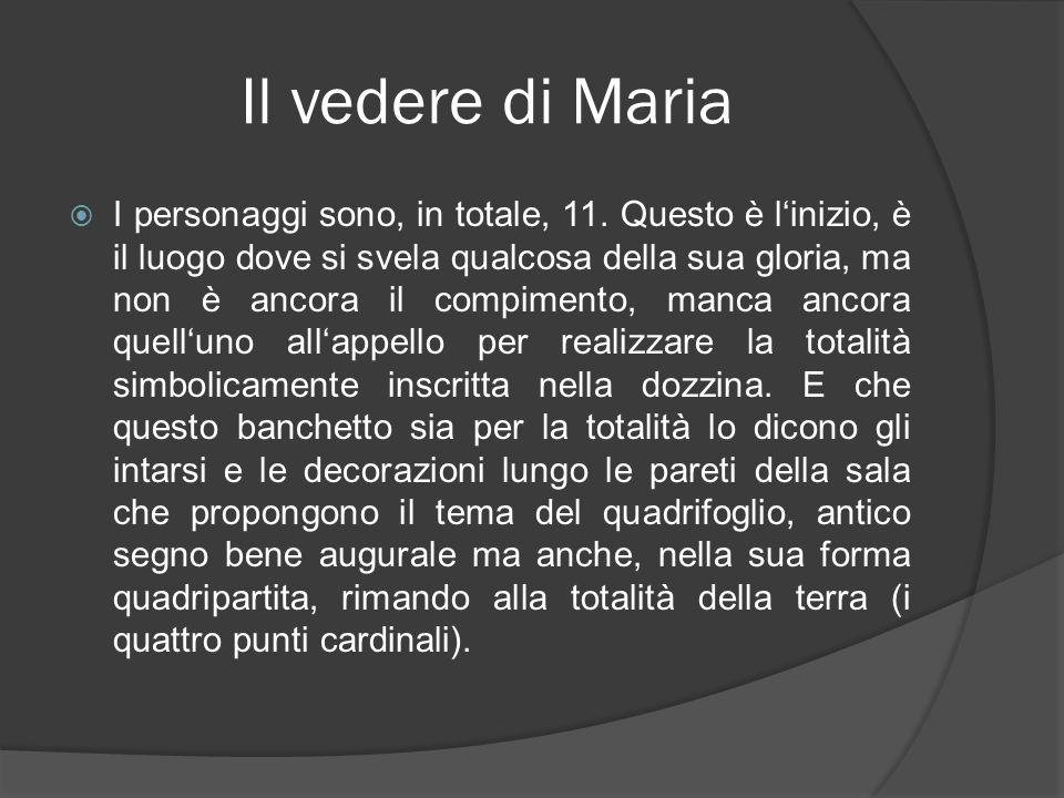 Il vedere di Maria I personaggi sono, in totale, 11. Questo è linizio, è il luogo dove si svela qualcosa della sua gloria, ma non è ancora il compimen