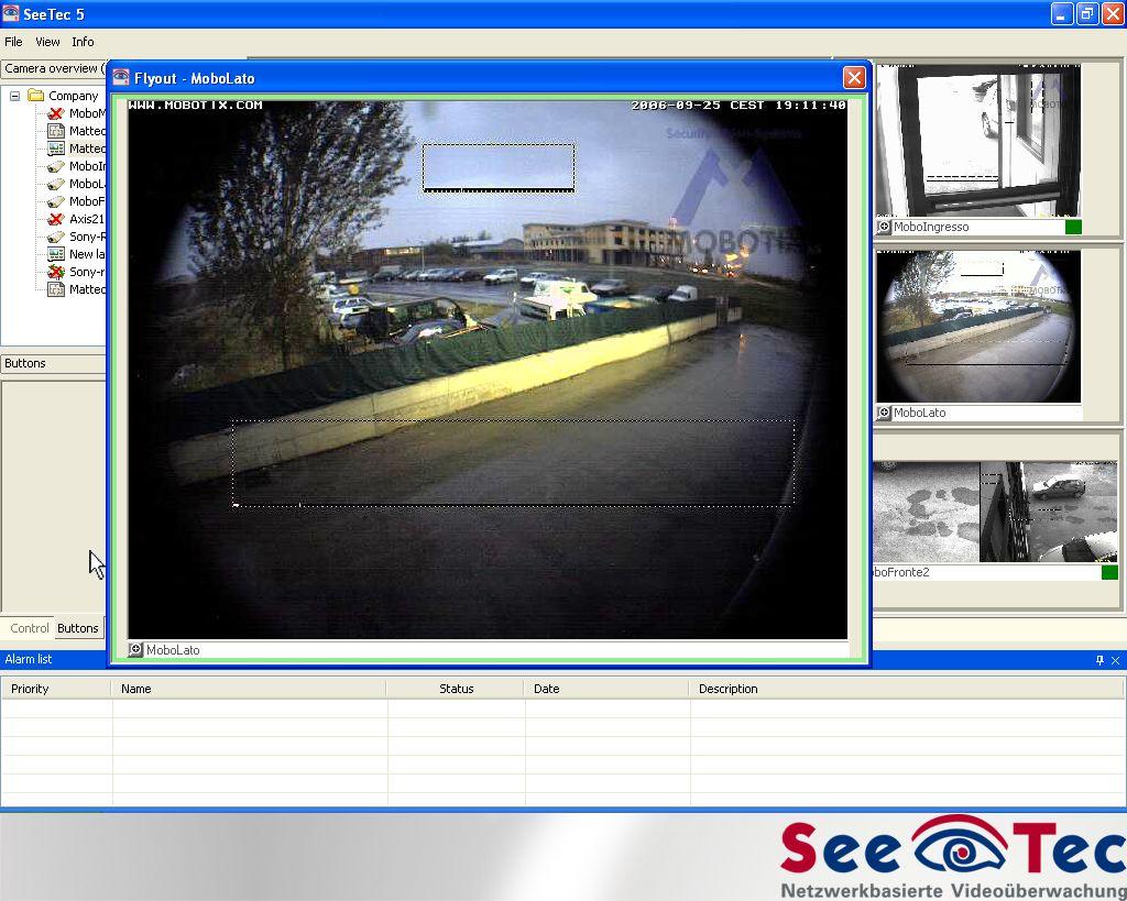 Software – SeeTec 5 Layout È possibile visualizzare le immagini attraverso layout predefiniti o personalizzati L interfaccia utente del software SeeTec 5