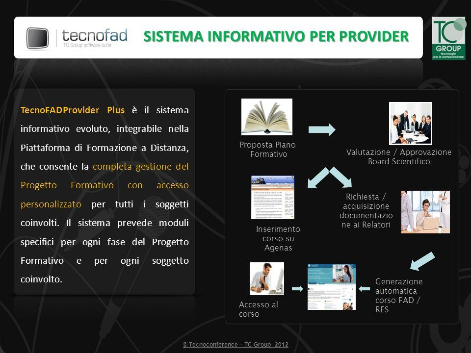 TecnoFADProvider Plus è il sistema informativo evoluto, integrabile nella Piattaforma di Formazione a Distanza, che consente la completa gestione del Progetto Formativo con accesso personalizzato per tutti i soggetti coinvolti.