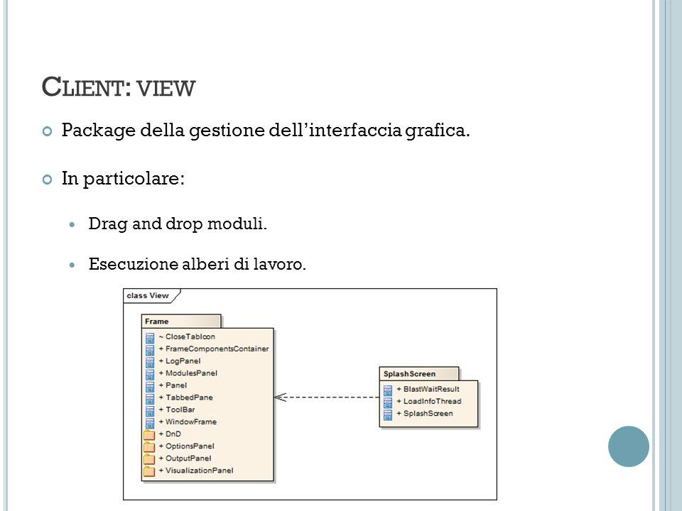C LIENT : VIEW Package della gestione dellinterfaccia grafica.