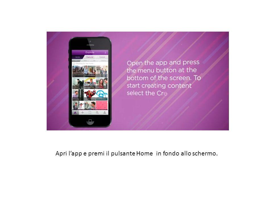 Apri lapp e premi il pulsante Home in fondo allo schermo. Step 2