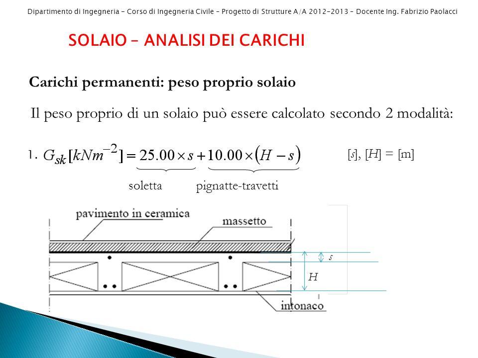 Dipartimento di Ingegneria - Corso di Ingegneria Civile – Progetto di Strutture A/A 2012-2013 – Docente Ing.