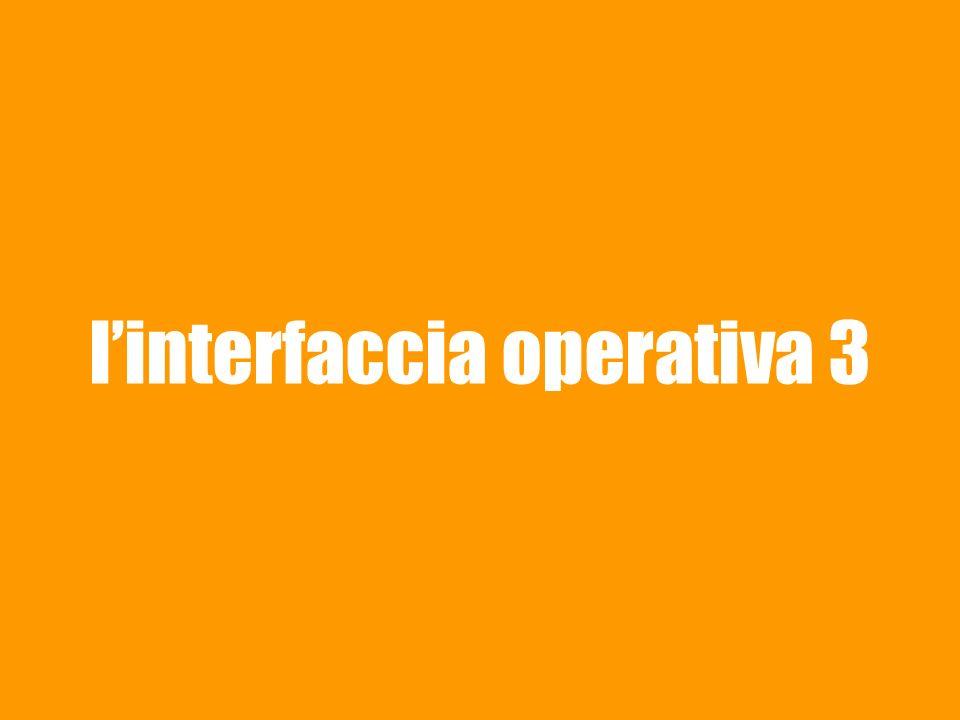 linterfaccia operativa 3