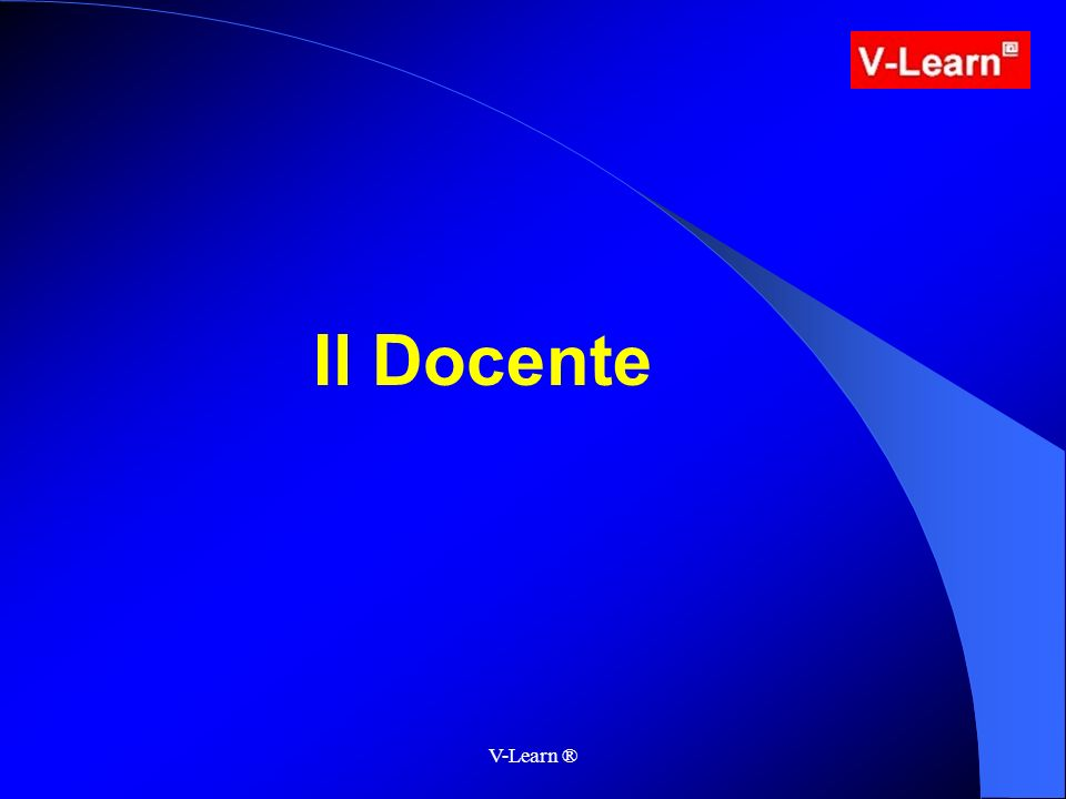 V-Learn ® Il Docente